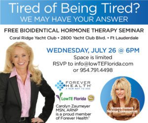 FREE BioIdentical Hormone Therapy Seminar @ Coral Ridge Yacht Club | Fort Lauderdale | Florida | United States