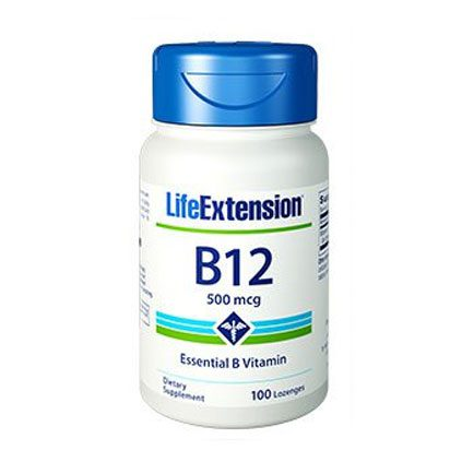 """life extension B-12 500 mg 100 capsules"""