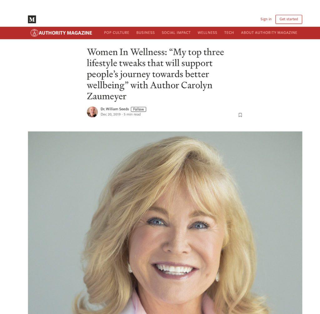 """LowTE - Authority Magazine - women in wellness"""